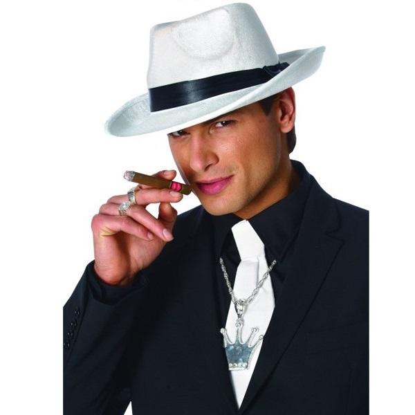 c55836142d701 Chapéu Homem Gangster cor Branca - PartyNight