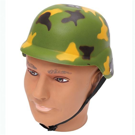 0d9c14b26921f Capacete de Militar Camuflado - PartyNight